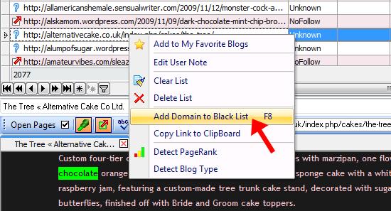 add domain to blacklist