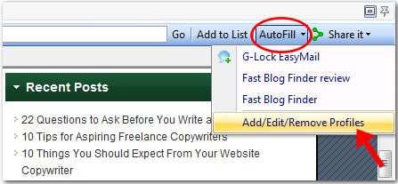 autofill the comment form