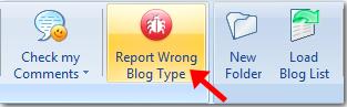 report wrong blog type